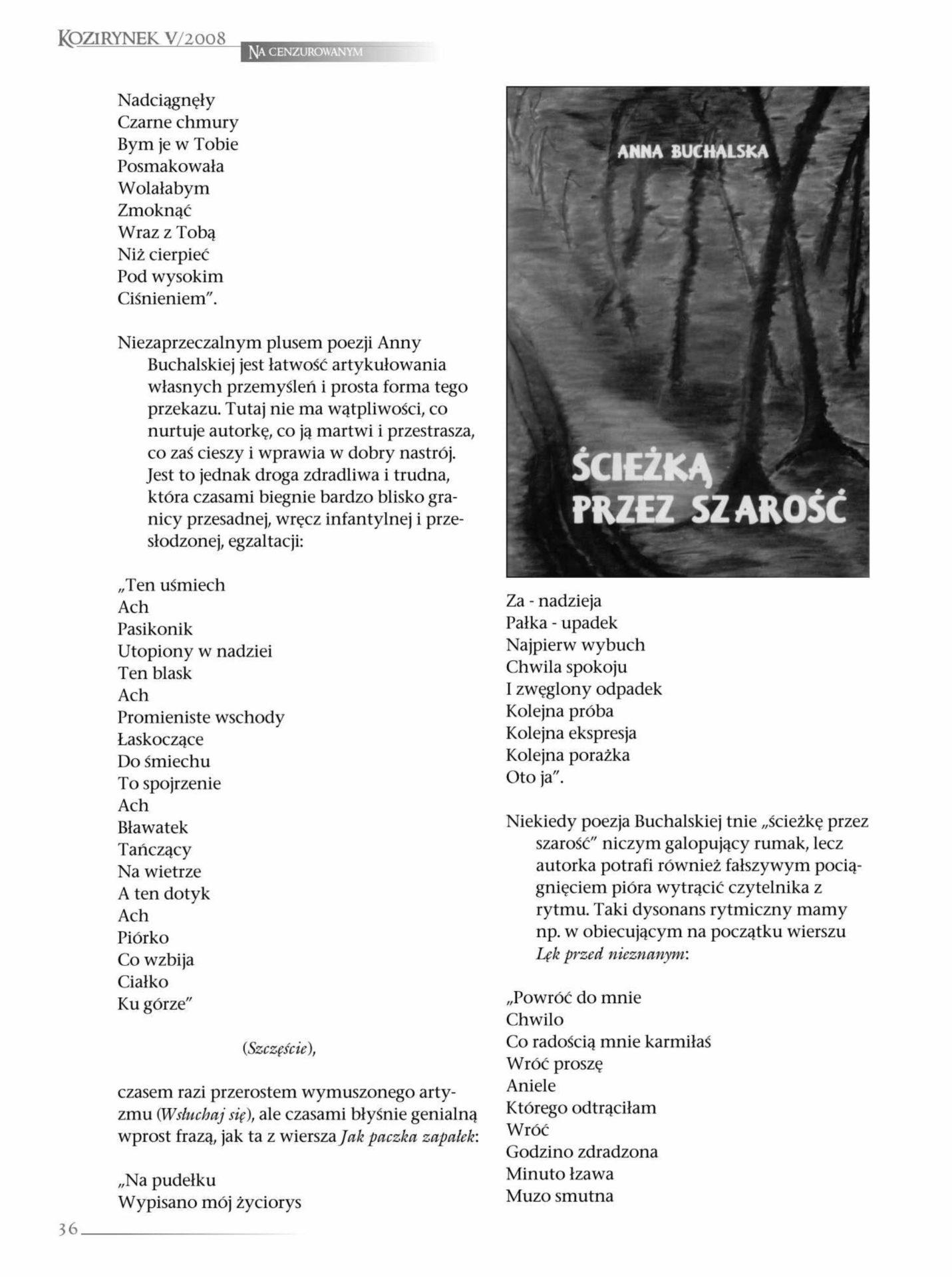 Dariusz Magier O Notatniku Poetyckim Anny Buchalskiej