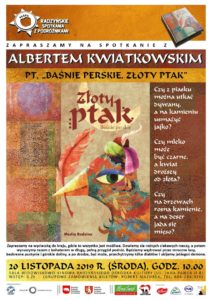 """Spotkanie z Albertem Kwiatkowskim @ Sala kina """"Oranżeria"""", ROK"""