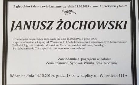 Informacje o pogrzebie Janusza Żochowskiego