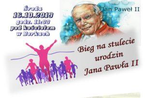 Bieg na stulecie urodzin Jana Pawła II @ Borki, pod kościołem