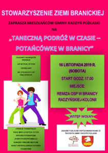 Taneczna podróż w czasie - potańcówka w Branicy @ Branica Radz.-Kolonia, remiza OSP