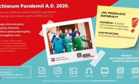 Przekaż zbiory do archiwum państwowego i stwórz z nami wielkie Archiwum Pandemii A.D. 2020