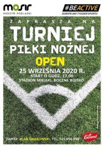 Turniej piłki nożnej open @ Stadion miejski, boczne boisko