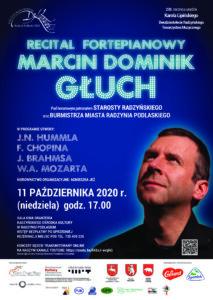 """Recital fortepianowy Marcina Dominika Głucha @ Sala kina """"Oranżeria"""", ROK"""