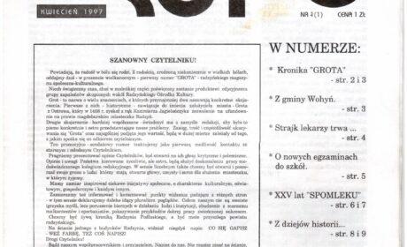 """""""GROT"""" nr 1: kwiecień 1997"""