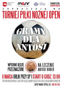 """Turniej Piłki Nożnej """"Gramy dla Antosi"""" @ Orlik przy SP1"""