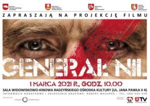 "Projekcja filmu ""Generał Nil"" @ Sala kina ""Oranżeria"", ROK"