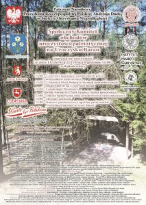 """Uroczystości religijno-patriotyczne na Uroczysku """"Baran"""" @ Uroczysko """"Baran""""; las k/ Kąkolewnicy"""