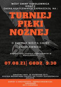 Turniej Piłki Nożnej @ Kąkolewnica, boisko przy Zespole Oświatowym