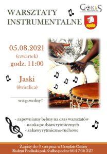 Warsztaty instrumentalne @ Świetlica wiejska w Jaskach