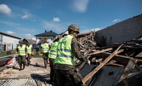 Terytorialsi wezwani na pomoc do miejscowości Gózd